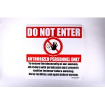 BIO Security Sign  | Do Not Enter Property